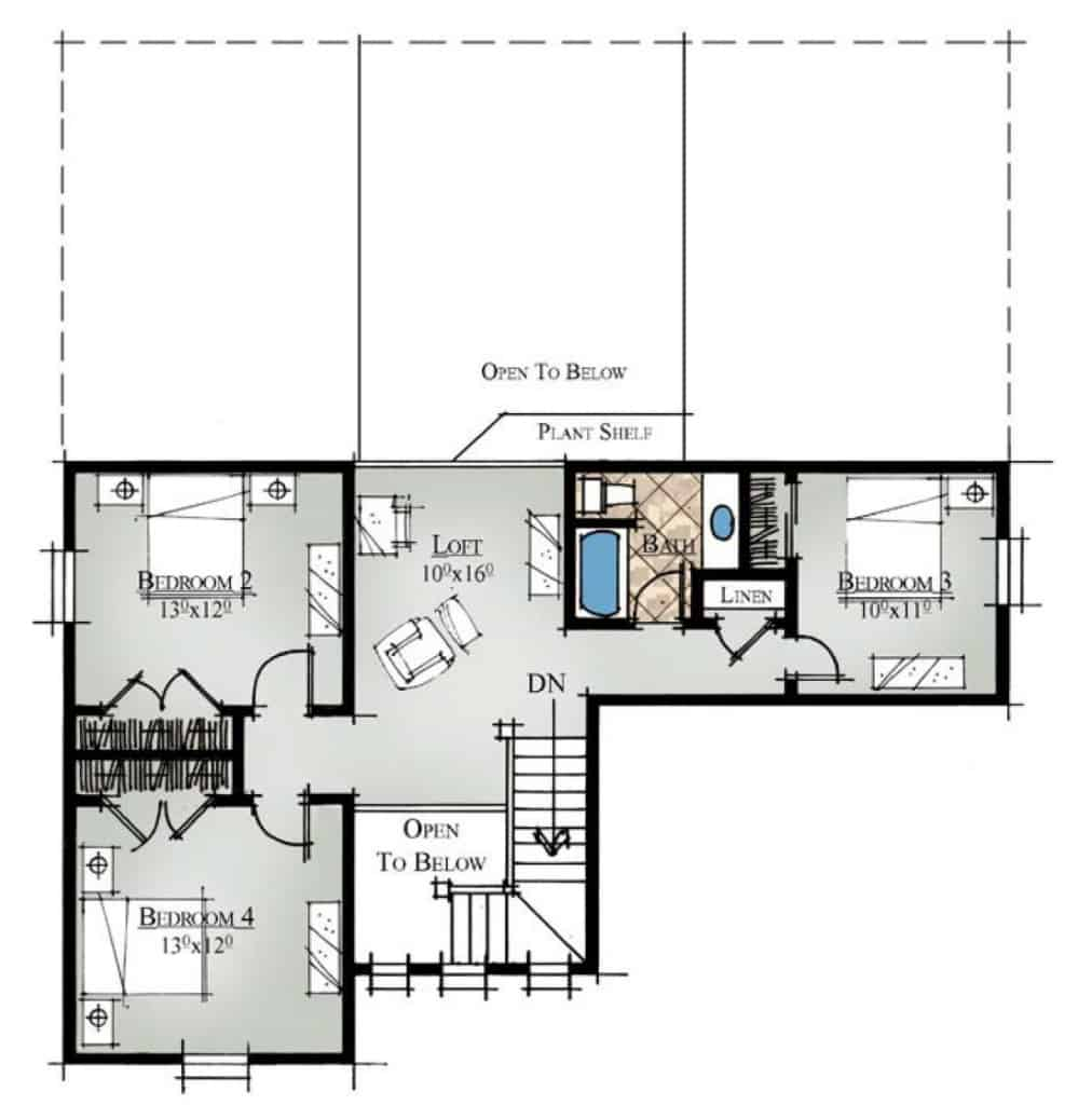 Lily Second Floor Plan