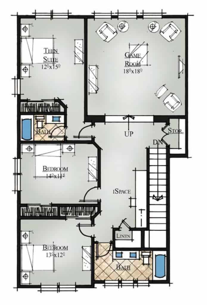 Saffron Second Floor Plan
