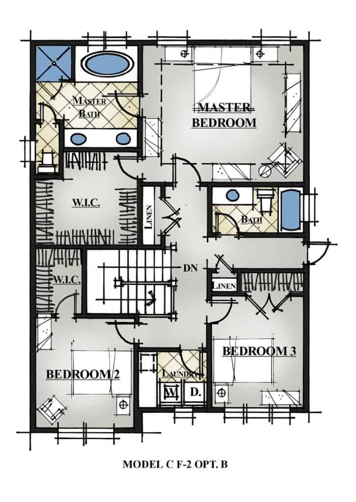 VTM 50-2410 Sasser Plan 2nd Floor Hall To Bonus