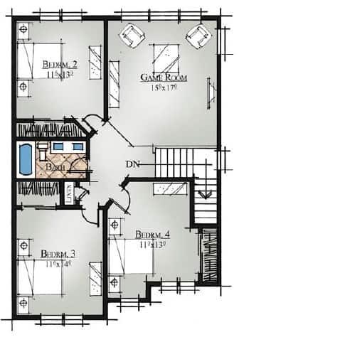 VTM2695 Orchid Second Floor Plan 4 Bed