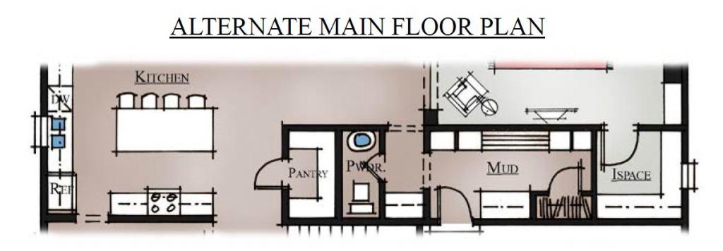 Waimea River Alternate First Floor Plan