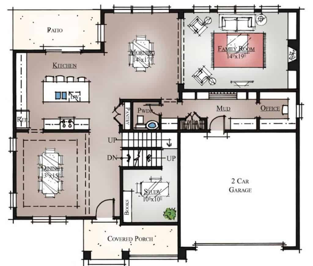 Waimea River First Floor Plan