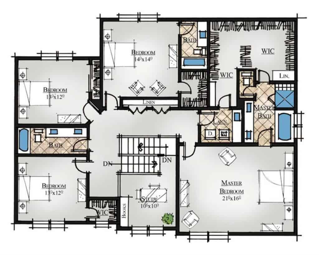 Waimea River Second Floor Plan