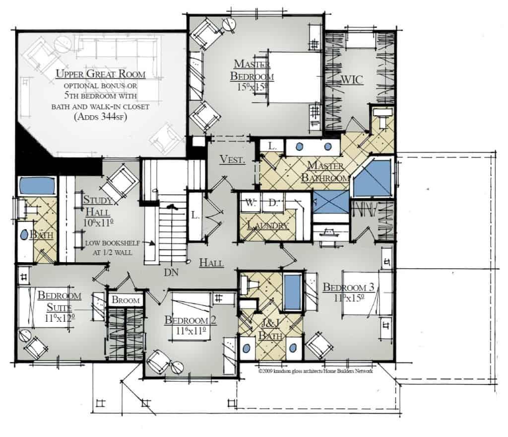 Yakima River Second Floor Plan